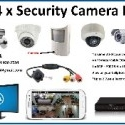 4 x security cctv cameras of your choice! Hidden camera, bullet cameras, dome cameras, spy cameras.