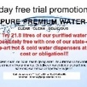BEAT THE HEAT! Free water + water cooler for 7 days!