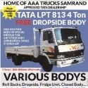 TATA LPT 813 EX , 4 Ton Truck , With Free Dropside Body , New