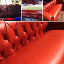 Couch Transformation & Re-Upholstery