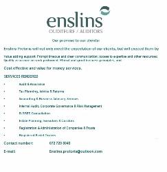 Enslins Pretoria Ouditeure / Auditors