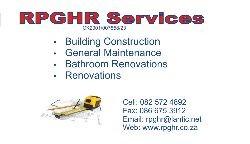 RPGHR Services Building Maintenance