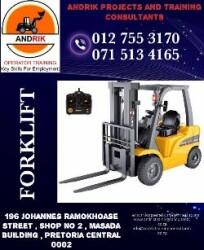 ANDRIK FORKLIFT TRAINING IN Hammanskraal 0127553170